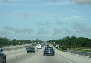 Interstate 195 (Florida) - I-195 eastbound towards Miami Beach