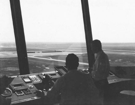Control Tower view of IAD in 1961. - Washington Dulles International Airport