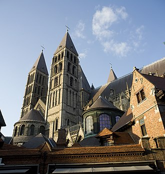 Religion in Belgium - Cathedral of Our Lady of Tournai.
