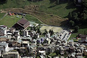 Caspoggio - aerial view of the town