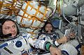 ISS-04 Yury Onufriyenko and Carl E. Walz in the Soyuz TM-33 spacecraft.jpg