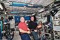 ISS-56 Oleg Artemyev and Sergey Prokopyev work in the Columbus module.jpg