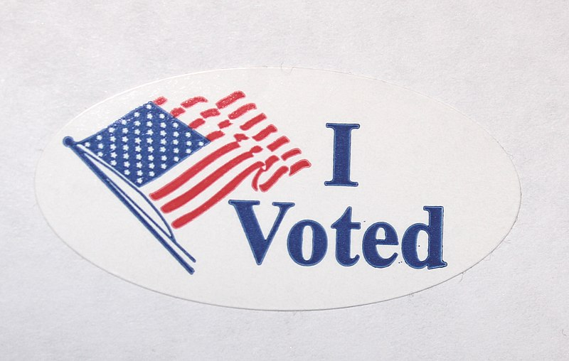 image about I Voted Stickers Printable referred to as Document:I Voted Sticker.JPG - Wikimedia Commons