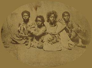 Grande Seca - Children during the drought, 1878
