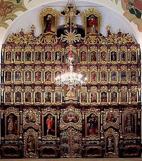 Iconostasis of the Cathedral of Hajdúdorog