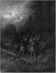 Ilustración de Gustave Doré para Los idilios del rey, de Lord Tennyson