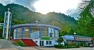 Otanche - Image: Iglesia María del Carmen de Otanche, Boyacá (por Francisco Foster)