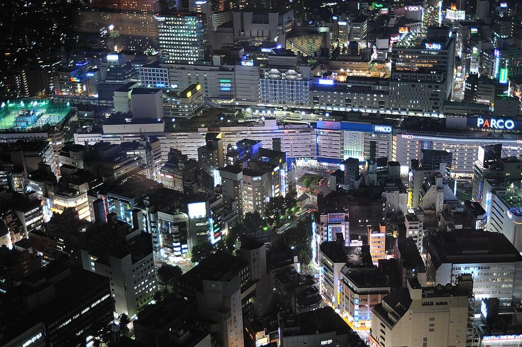 Ikebukuro Station at Night