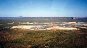 Uranium mining in Kakadu National Park - Aerial view of the Ranger Uranium Mine.