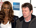 Iman and David Bowie at the premiere of Moon.jpg