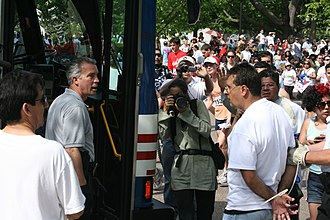Arizona SB 1070 - Protesters being arrested as part of the May 1, 2010, civil disobedience display in front of the White House