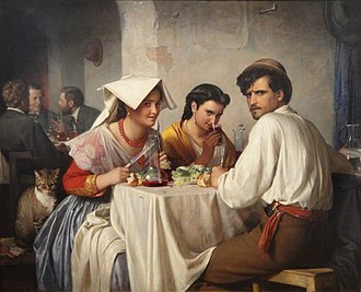 National Gallery of Denmark - In a Roman Osteria by Carl Bloch, 1866