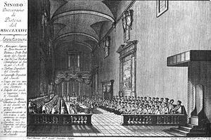 Synod of Pistoia - The Synod of Pistoia held in the church of S. Benedetto, Pistoia, 1786.