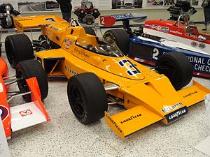 1974 Indianapolis 500 - Image: Indianapolis Motor Speedway Museum in 2017 Racecars 06