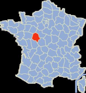 Communes of the Indre-et-Loire department - Image: Indre et Loire Position