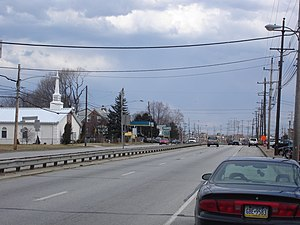 Pennsylvania Route 291 - Industrial Highway (PA 291) in Essington, facing east