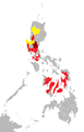 Influenza A(H1N1) map of the Philippines as of 20 June 2009.png