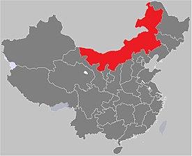 Mapo montranta la lokon de Interna Mongolio