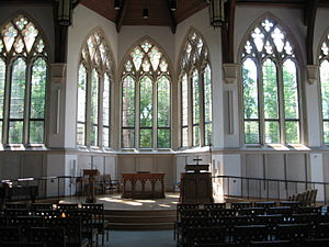 Duke Divinity School - The interior of Goodson Chapel