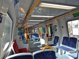 3000 class railcar - Image: Inside Adelaide 3000 Class train (14250482997)