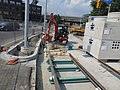 Installing new Streetcar tracks north of Eastern Avenue on Cherry Street, 2013 08 21 (2).JPG
