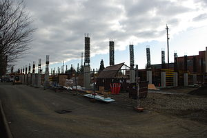 Hillsboro Intermodal Transit Facility - The structure in December 2009