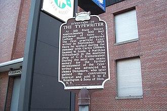 Christopher Latham Sholes - Wisconsin Historical Marker
