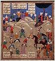 Iran, shiraz, miniatura con testo e gioco del polo, da manoscritto dello shah-nama, 1550-75 ca. 02.jpg
