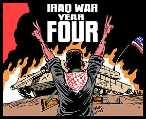 Carlos Latuff - Image: Iraq war, year FOUR!