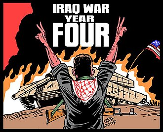 Carlos Latuff - Image: Iraq war, year FOUR!