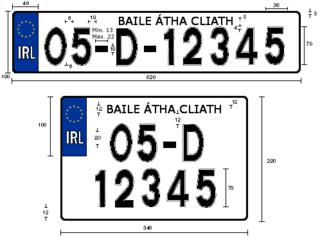 Überblick über die Kfz-Kennzeichen in Irland