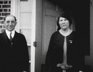 White Oak Conservation - Isaac Gilman stands with his wife. Her name and the date of this photo are unknown.