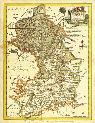 Ely, Cambridgeshire - A 1648 drainage map showing the Isle of Ely still surrounded by water Joan Blaeu (1648) Regiones Inundatae