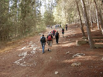 Israel National Trail - Hikers on Israel Trail