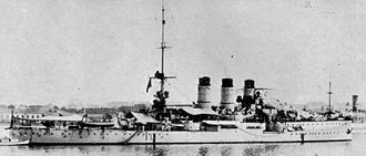 Italian battleship Regina Elena - Regina Elena at Taranto in May 1915.