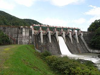 Tokachi River - Iwamatsu Dam in Shimizu (September 2007)