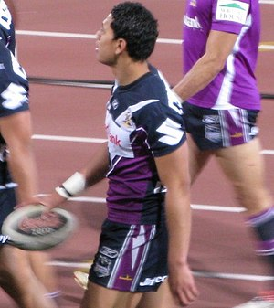 Israel Folau - Israel Folau leaving the field following the pre-match warm-up, 15 August 2008