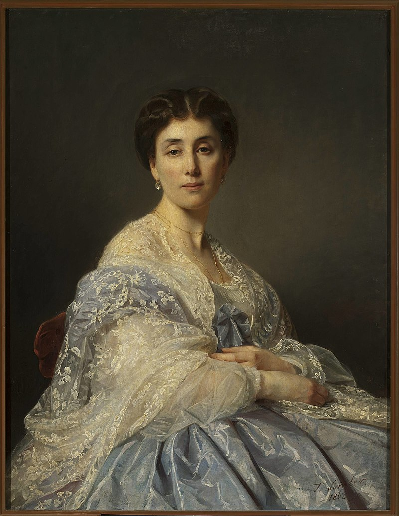 Józef Simmler - Portrait of Aleksandra Zatler, general's wife - MP 323 - National Museum in Warsaw.jpg