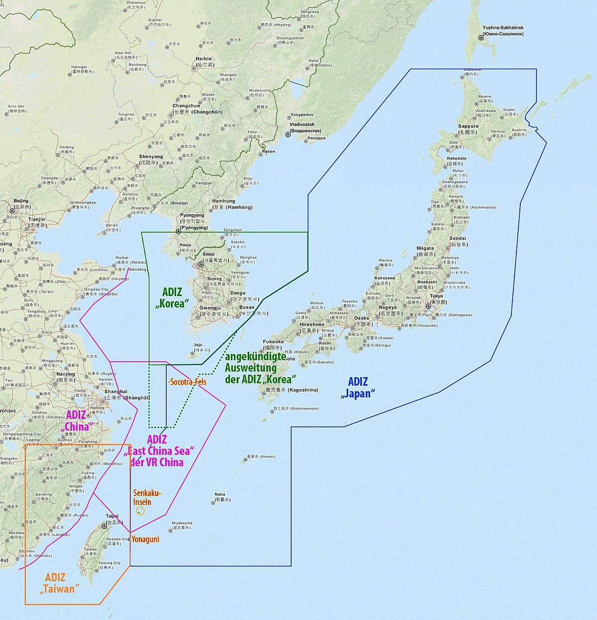 Air defense identification zone wikipedia sciox Gallery