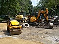 JCB 8085 and Vibromax and New Holland F 156.6 A, 2017 Margaret Island.jpg