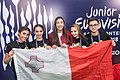 JESC 2018 partisipants. Ela Mangion with her team (Malta).jpg