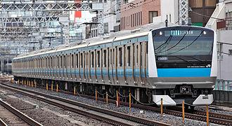 Keihin-Tōhoku Line - A Keihin-Tohoku Line E233-1000 series EMU, March 2009