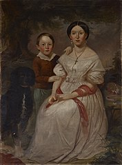 Portrait of Sarah Elizabeth Morrison and Samuel Morrison