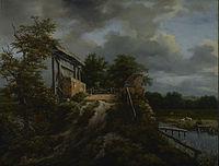 Jacob van Ruisdael - Bridge with a Sluice - 86.PB.597 - J. Paul Getty Museum.jpg