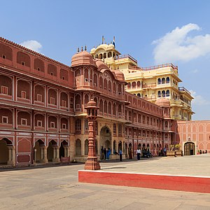 The Best Exotic Marigold Hotel - Some of the footage of the film was shot around the City Palace of Jaipur.