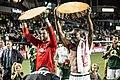 Jake Gleeson and Fanendo Adi with slices Portland Timbers vs RSL 2016-09-10 (28990278003).jpg