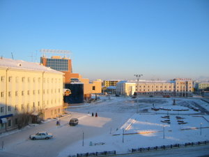 Yakutsk - Yakutsk square with a theater