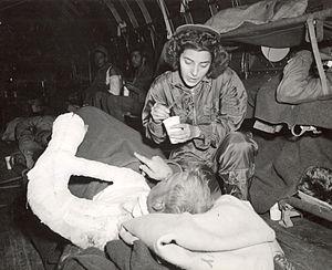 Flight nurse - Image: Jane Kendeigh USN Flight Nurse 1945 a