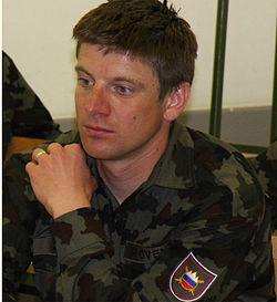 Janez Marič in military uniform.jpg