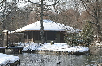 Englischer Garten - The Japanese teahouse in winter
